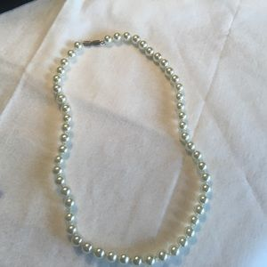 Simulated White Pearl Necklace
